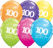 100th Birthday - 11 Inch Balloons 25pcs